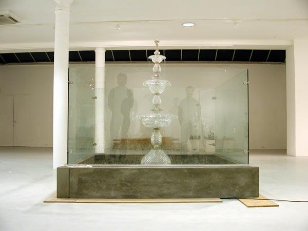 """Klaus Weber """"Public Fountain LSD Hall"""", 2003."""