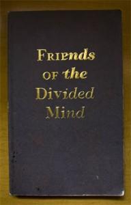 """livro sobre a exposição """"Friends of the Divided Mind"""""""